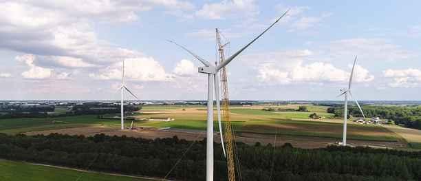 Ventis plaatst 4 windmolens in Nijvel
